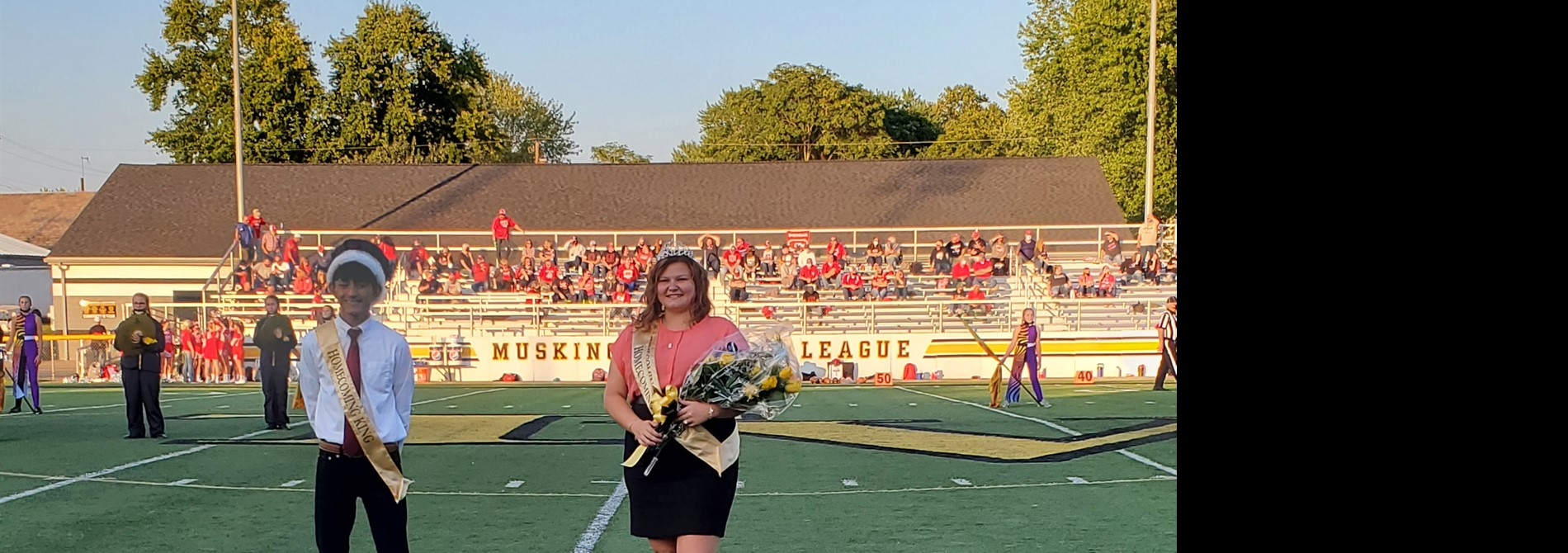 2020 Homecoming King Gino Repuyan and Queen Tayler Wolford