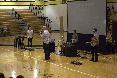 Great motivational assembly at TVHS, September 14th!