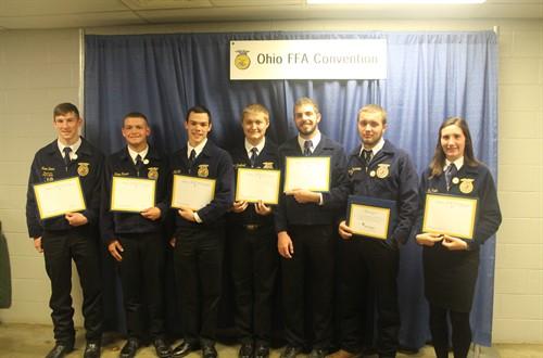 Congratulations FFA State Degree Recipients