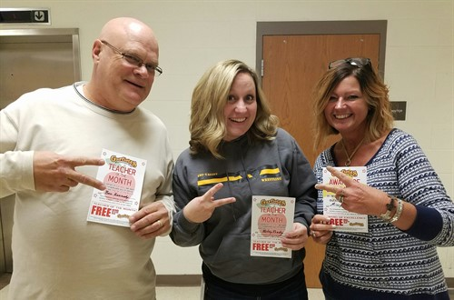 November Teachers of the Month - Mr. Kennedy, Ms. Prouty & Mrs. Faulhaber