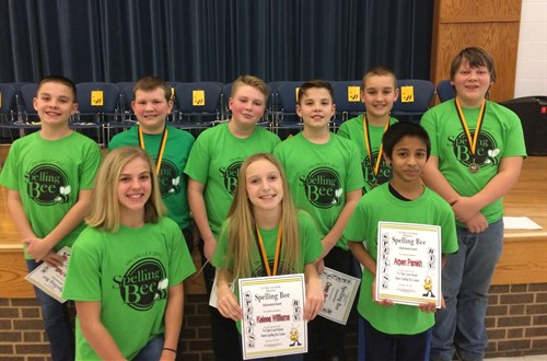 Dresden Elementary District Spelling Bee Participants
