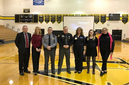 "Speakers at our ""Teen Distracted Driving Assembly"""