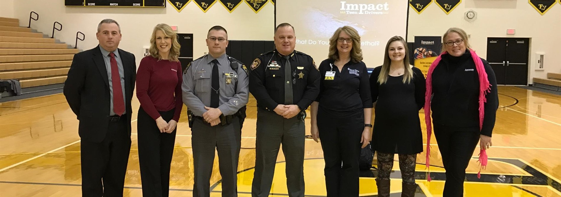 "Speakers at our ""Teen Distracted Driving Assembly"