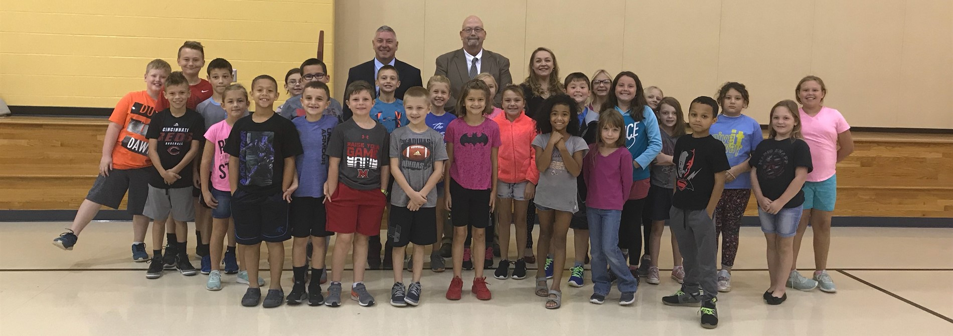 Local government officials visit 3rd grade.