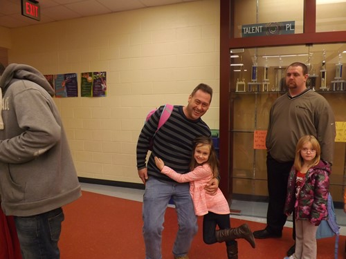 Dads are so special!  Donuts with Dads Celebration at Adamsville Elementary!
