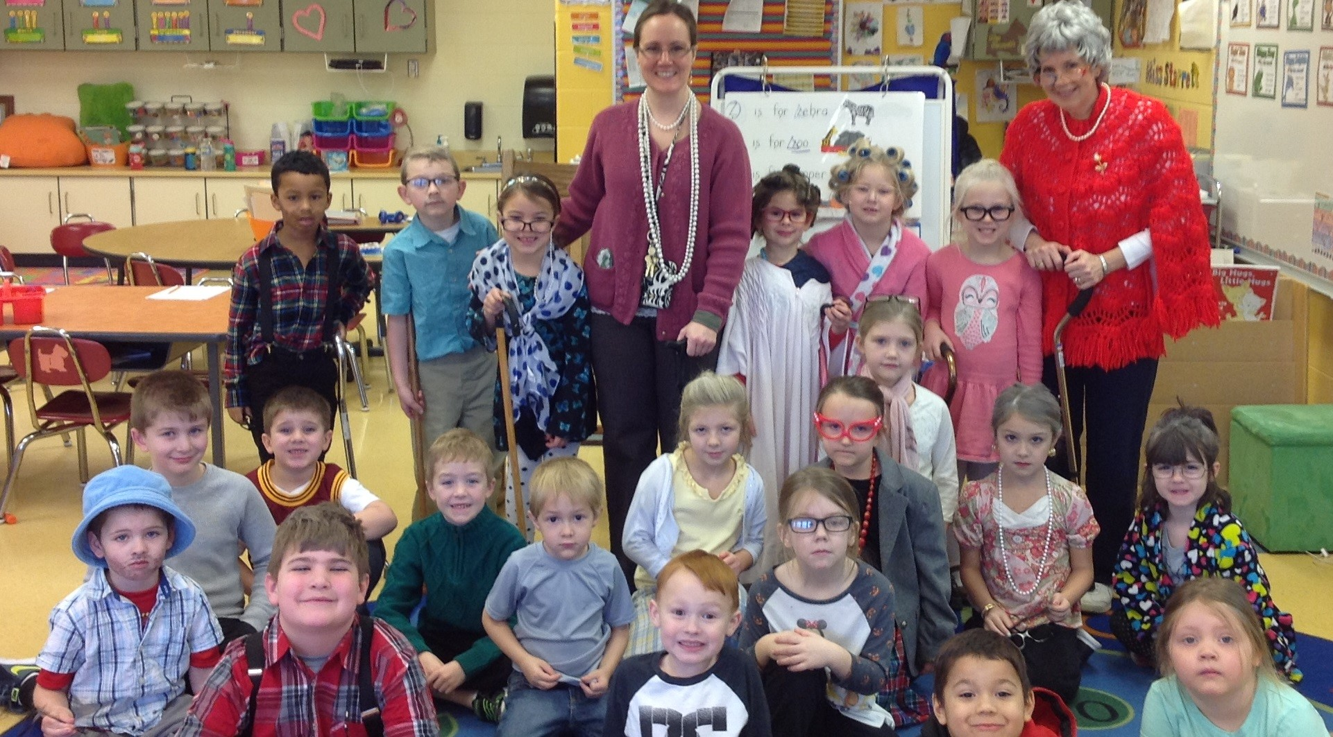 Miss Starrett's Kindergarten Class Celebrates the 100th Day of School!