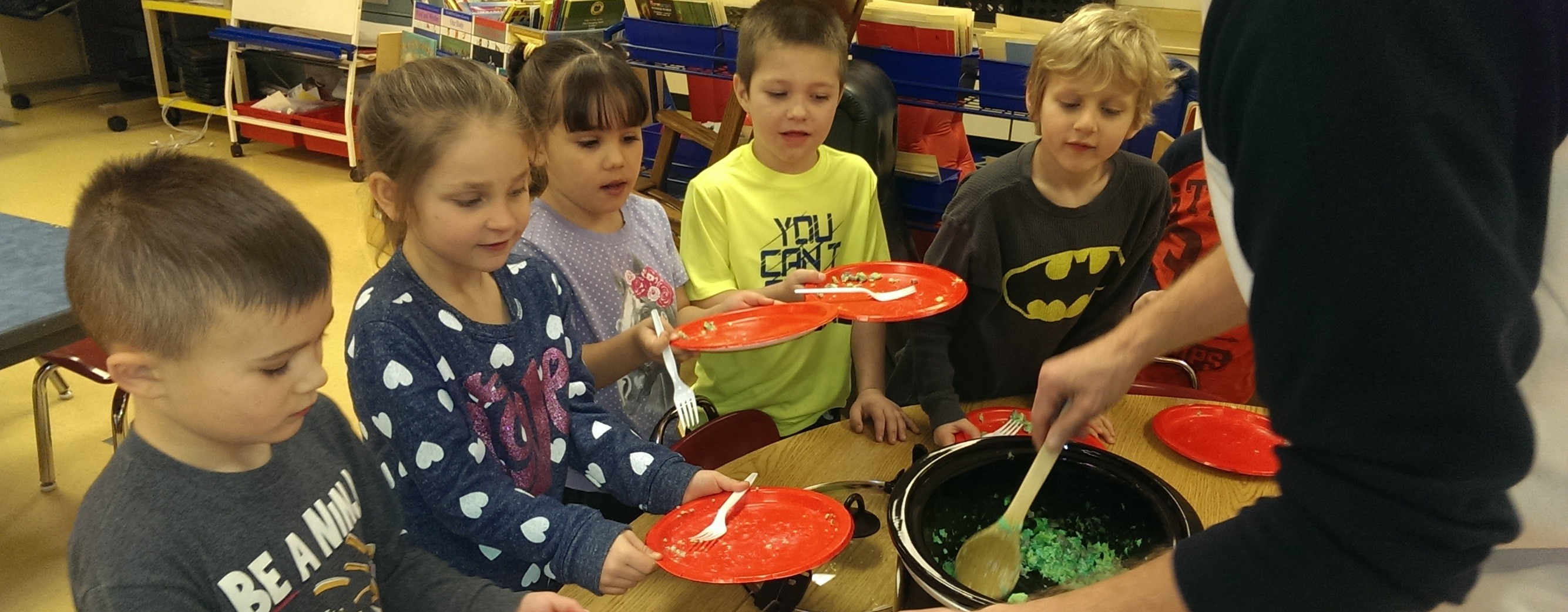 Trying Out Green Eggs in Mr Ritchie's Class