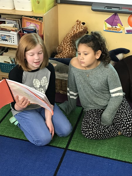 5th Grade Writers read to 3rd Graders