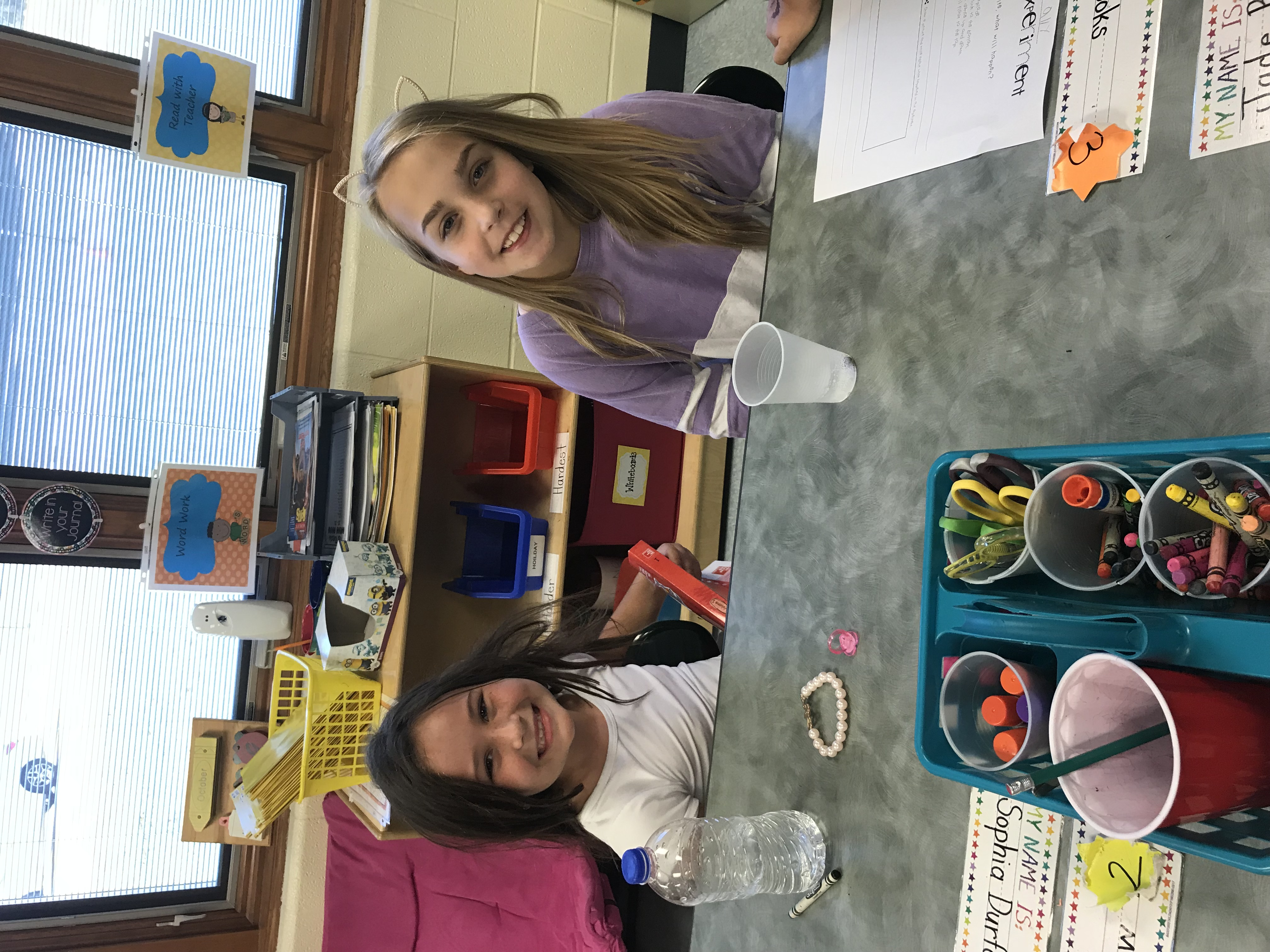 "1st and 4th graders ""buddy up"" to learn about science!"
